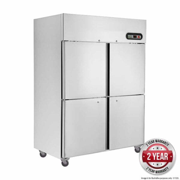 suc1200 tropical thermaster 4×½ door ss fridge