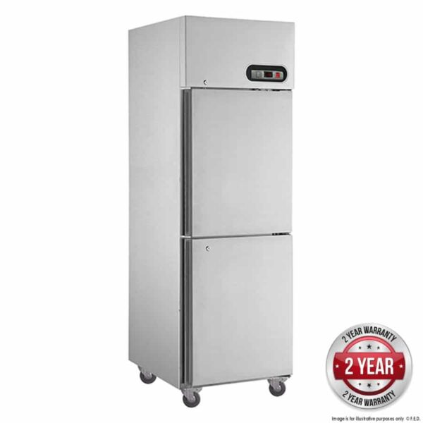 SUC500 TROPICAL Thermaster 2×½ door SS Fridge -