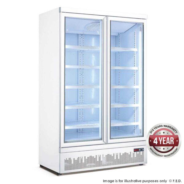 Double glass door colourbond upright drink fridge bottom mounted - LG-1000GBM -