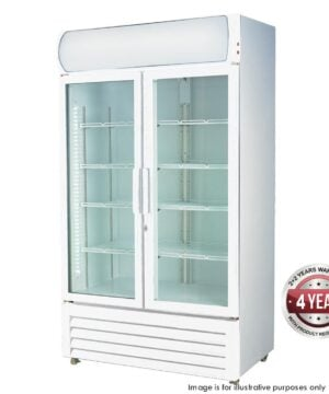 LG-1000GE Large Two Glass Door Colourbond Upright Drink Fridge -