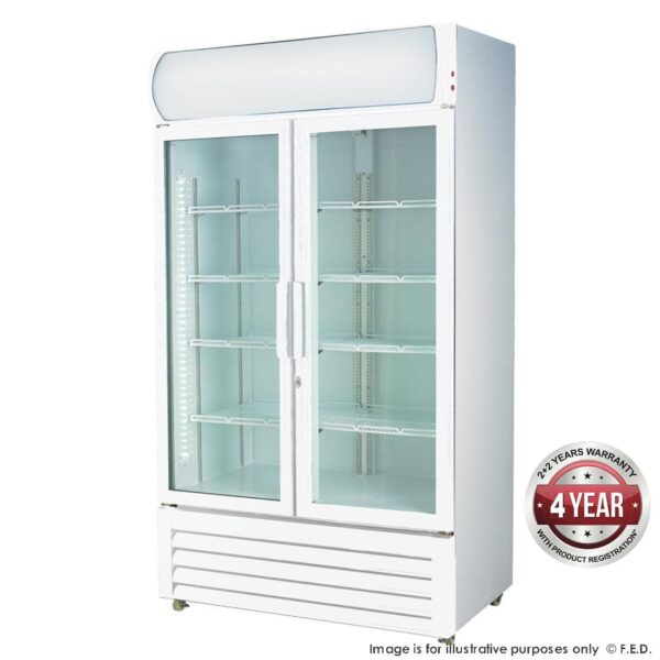 LG-1000GE Large Two Glass Door Colourbond Upright Drink Fridge -