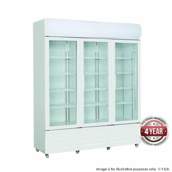 Three Glass Door Colourbond Upright Drink Fridge - LG-1203GE -