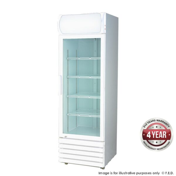LG-370GE Single Glass Door Colourbond Upright Drink Fridge -