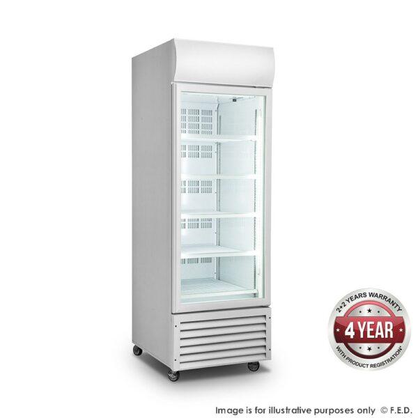 Single Glass Door Colourbond Upright Drink Fridge - LG-370GT -