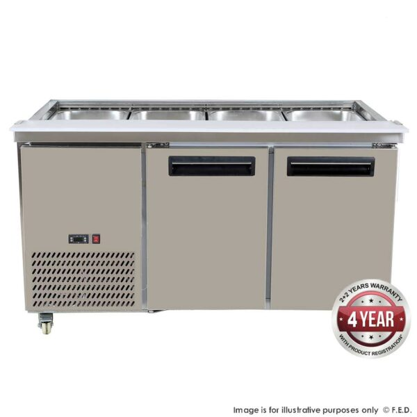PG150FA-B Bench Station Two Door - 4x1/1 GN Pans -