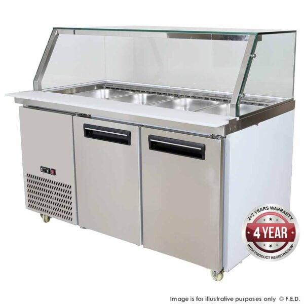 PG150FA-YG Cold Salad & Noodle Bar 4x1/1 GN Pans -